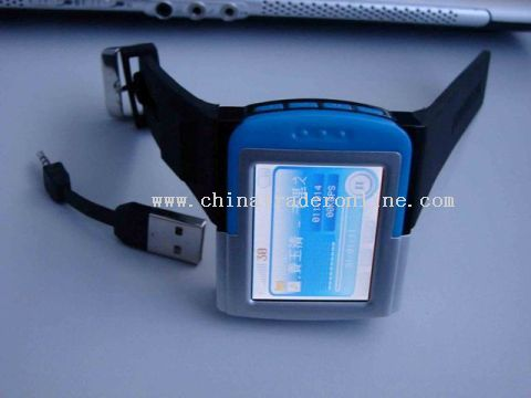 1.8TFT build-in mini USB & Powerful Speaker MP4 Watch from China