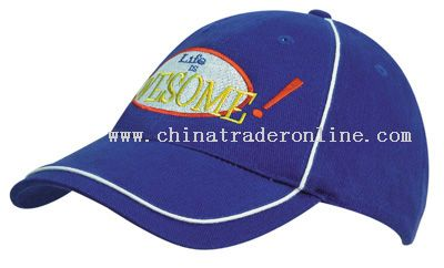 Cotton Cap with Piping