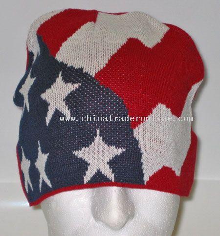American Flag Beanie Cap