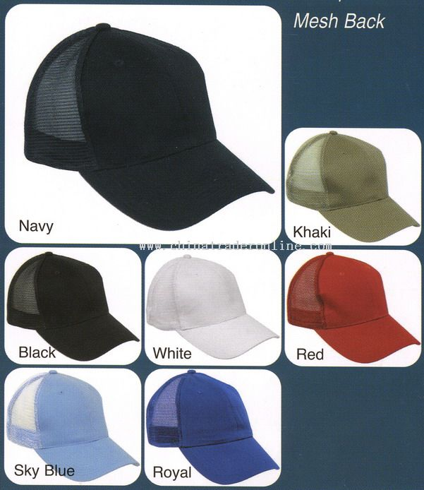 Baseball Caps with Back Mesh