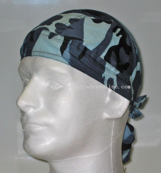 Blue Camouflage Head Wrap