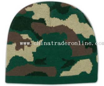 Camouflage Design Acrylic Knit 8 Beanie from China