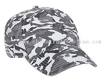 Camouflage Superior Garment Washed Cotton Twill Distressed Visor