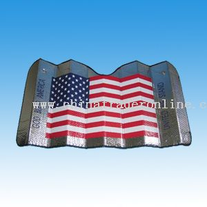 Car Sunshade Printed with National flag- FE Bubble