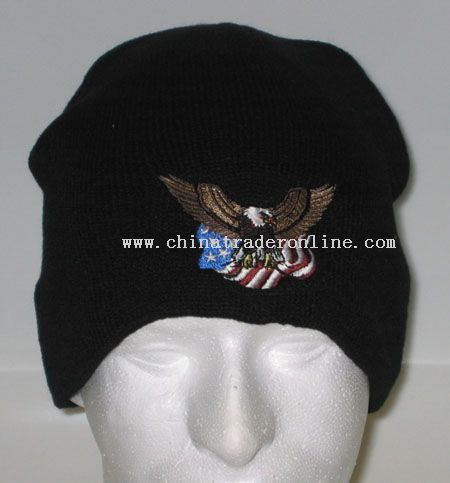 Embroidered American Eagle Beanie Cap