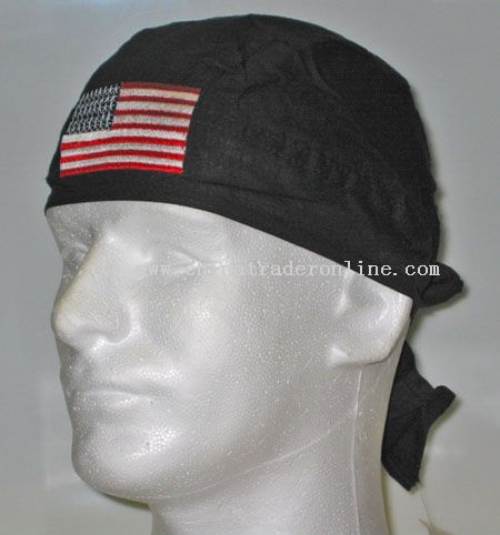 Embroidered US Flag Head Wrap