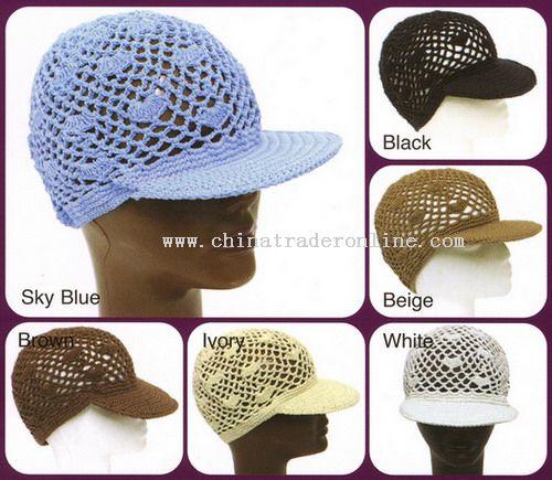 Net Crochet Baseball Caps