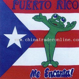 Puerto Rico Fog Flag Bandanas