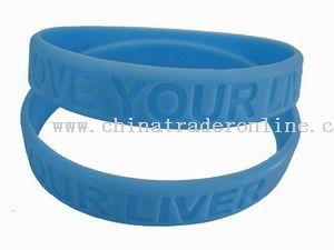 Debossed bracelet
