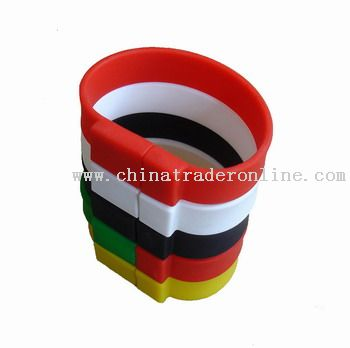 Silicone USB bracelet from China