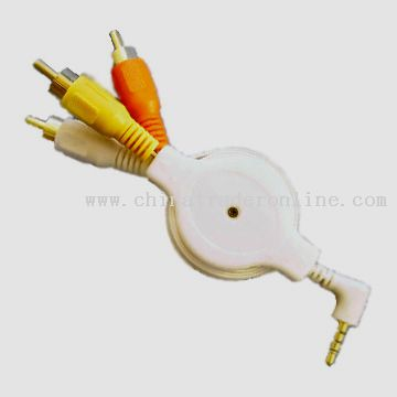 Retractable TV Video/Audio Cable for iPod Video