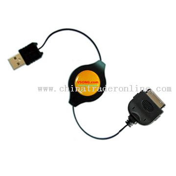 USB 2.0 Compatible Charge and Sync cable for iPod players
