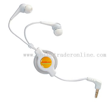 retractable erphone for ipod and iphone