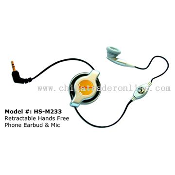 standard 2.5mm Phone Plug Retractable Headsets