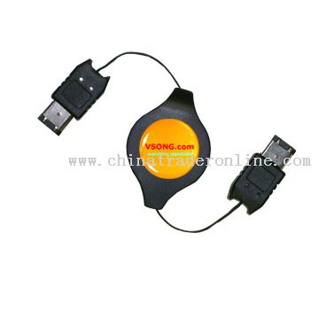 Firewire IEEE 1394 6Pin to 6Pin Male retractable Firewire cable