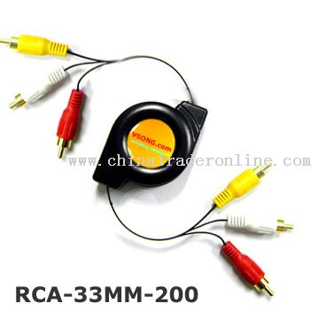 Retractable RCA cable
