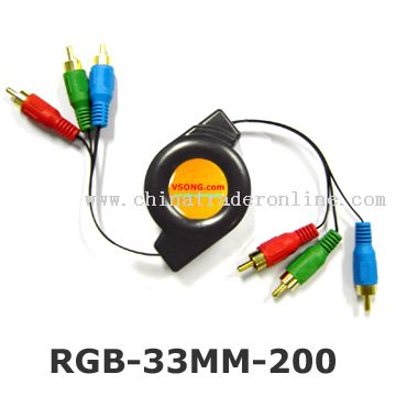 Retractable RGB cable