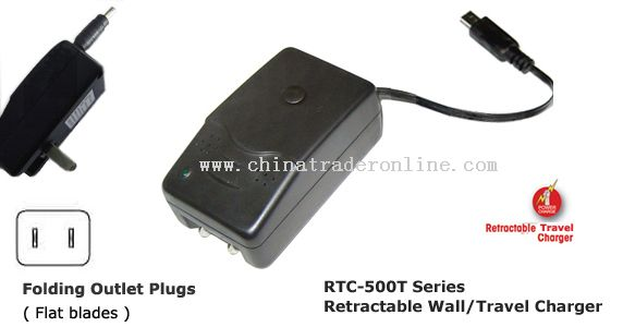 Retractable Wall Chargers for PDAs/Cellphones