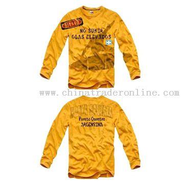 65/35 T/C jersey mens long sleeve T-shirt
