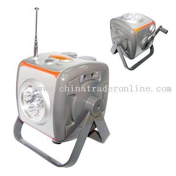 Crank Dynamo Radio with LED Flashlight
