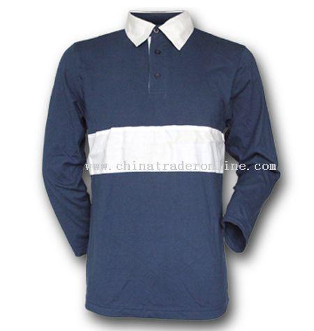 Jersey Fabrics Long Sleeves Polo T-shirts