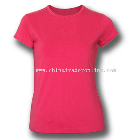 Ladies Cap Sleeves T-shirts from China