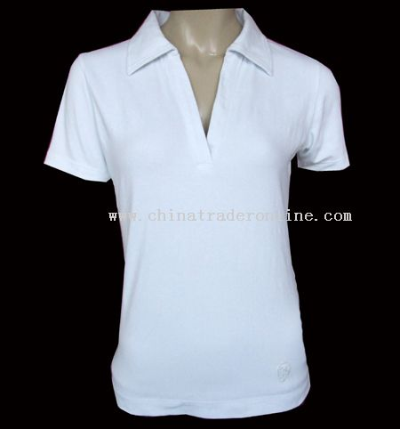 Ladies T-shirt W/Collar