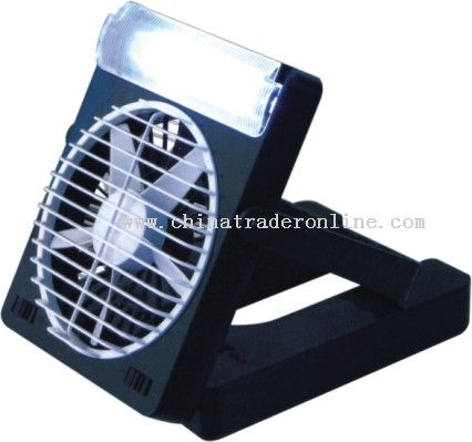 Mini Fan with 12 LED Lights