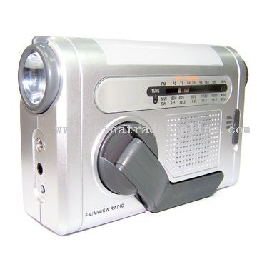 Multi-Funcition Crank Dynamo Radio With Flashlight