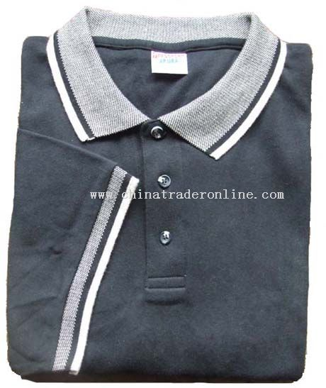 Wholesale polo shirts with jacquard collar and cuffs buy for Cheap polo collar shirts