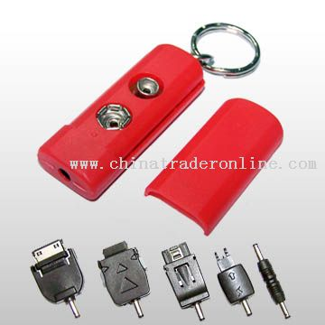 Portable Emergency Mobile Phone Battery Charger Including Five Changeable Plugs