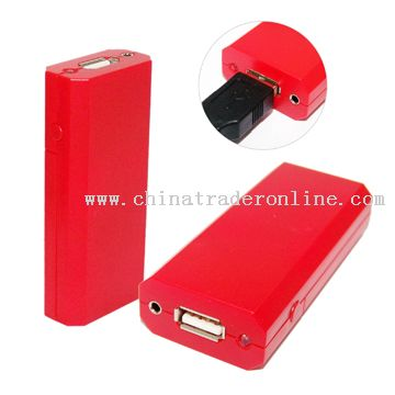 Portable Emergency Mobile Phone Battery Charger with LED Light