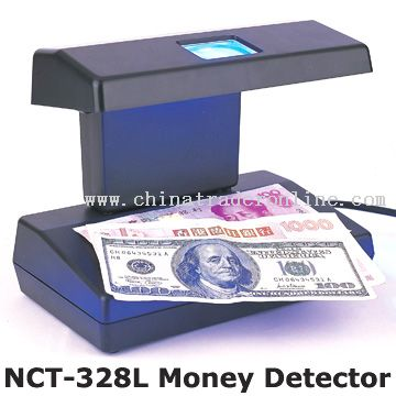 Banknote and Counterfeit Money Detector with Built-in Magnifier