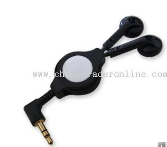 Retractable MP3 Earphone