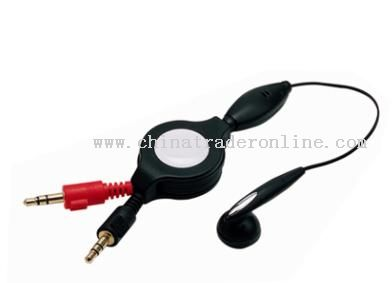 Retractable PC Earphone & Microphone