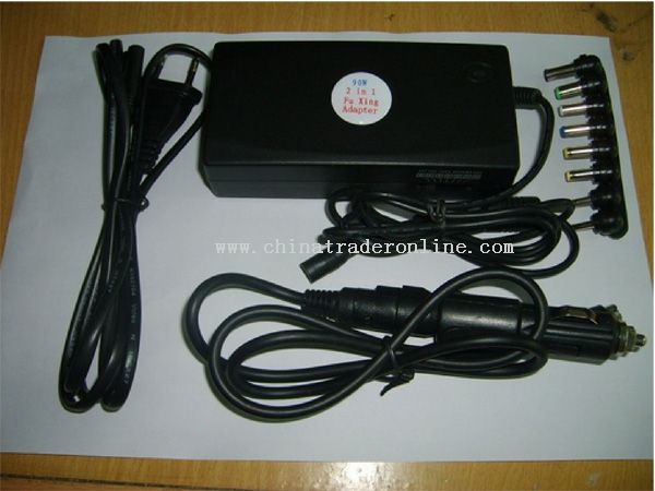 90w laptop adapter with car/air charger