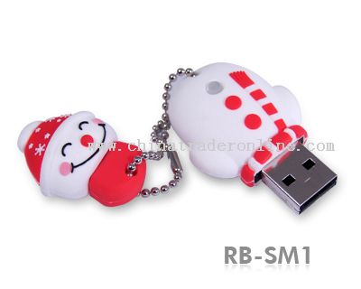 Durable Solid Rubber Christmas Gifts USB Flash Drive