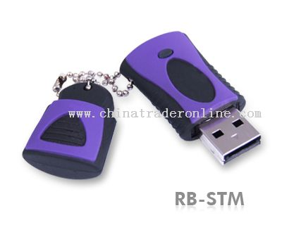 Durable Solid Rubber USB Flash Drive
