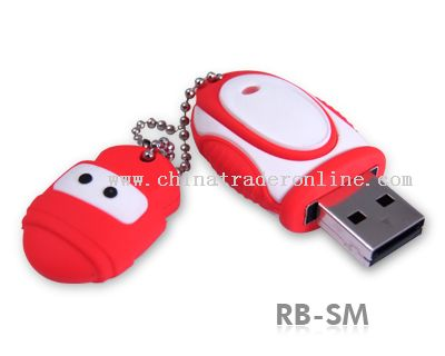 Durable Solid Rubber XMAS USB Flash Drive