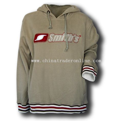 Hoody Sweat Shirt with stripes Cuffs & Bottom