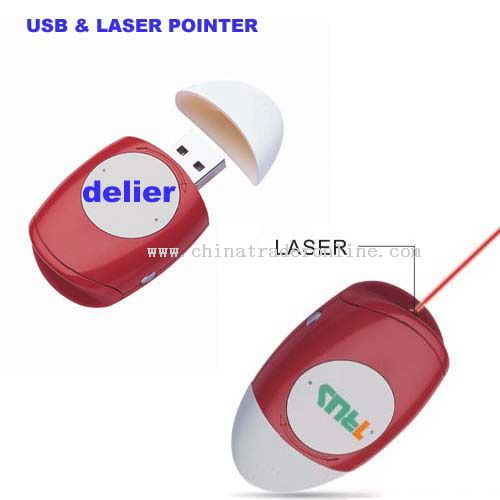 USB Flash Laser Pointer or LED Llight from China
