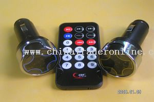 Car MP3 FM Transmitter with car charger from China