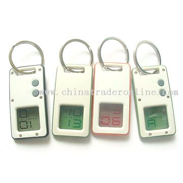Keychain with LCD display of time