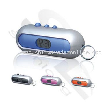 LCD Clock Keychain from China
