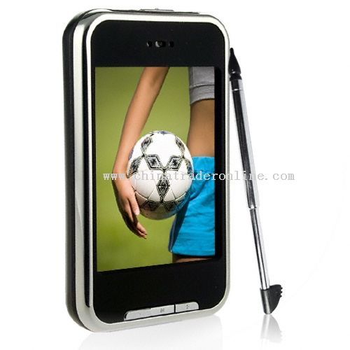 2.8 Inch 4GB high clear QVGA touch screen MP4; Support FM record