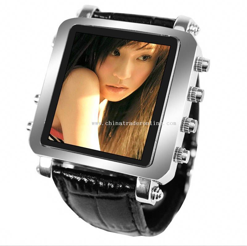 stspecial sale 1GB MP4 Player Mens Metallic Watch,inch OLED Screen