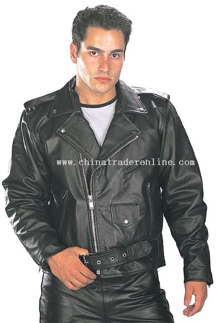 Classic Mens TOP GRADE Biker Motorcycle Jacket