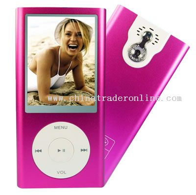 MP5 Player 4GB,2.4 inch Screen,1.3M Pixel,PC Camera,Mini SD Card