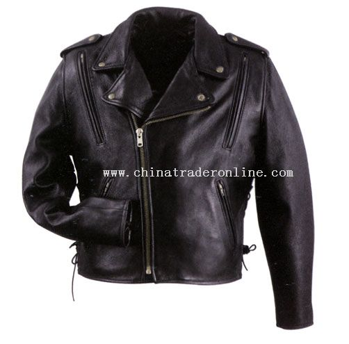 Mens Leather Vented Cool Rider Jacket