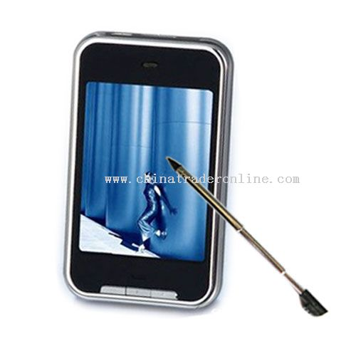 Touch screen MP5 player-8GB-1.3 MP digital camera-2.8 inch screen-FM radio-Mini SD card slot